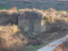 Vista de las ruinas del molino