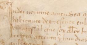Inicio del texto del Pergamino de Undués de Lerda