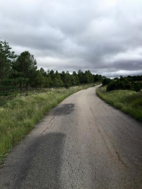 Zona del camino cuando transita por la Cañada