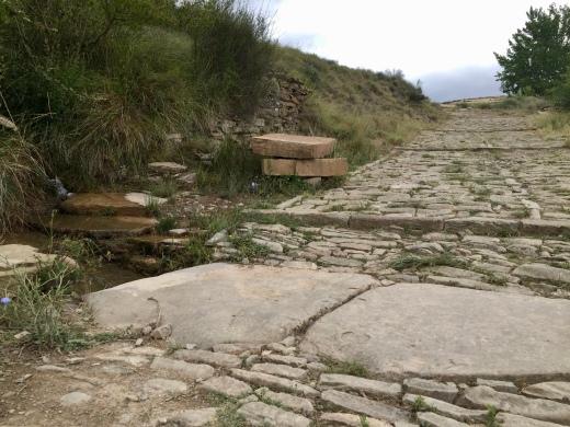 Calzada romana en la zona de la Chorrota