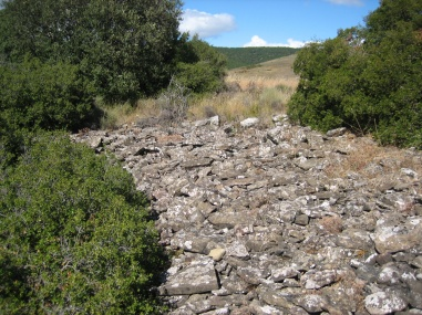 Ruinas de una edificación en Serramiana