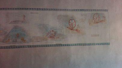 Fresco con escenas del martirio de Santa Eufemia