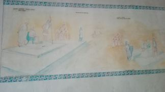 Frescos con escenas del martirio de Santa Eufemia