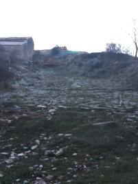 Calzado romana junto al corral de Arbea