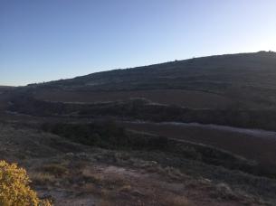 Imagen del montículo donde se ubica el nevero