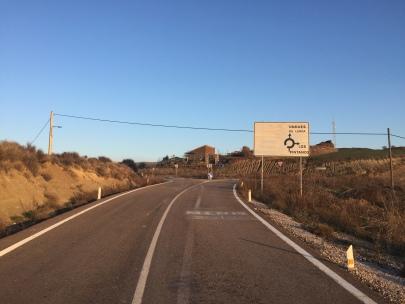 Estado actual de la carretera junto a Santa Eufemia