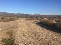 Cruce del camino de Santiago con la carretera Undués - Lerda