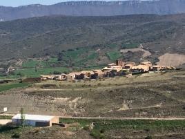 Vista de Undués desde la cima del paco de la Gardia
