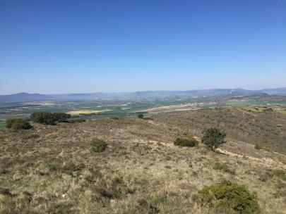 Vista de la zona del valle de Aibar