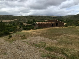 Imagen del pajar y la era del corral de Arbea