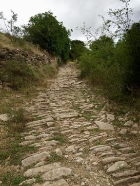 Calzada romana hacia la Chorrota
