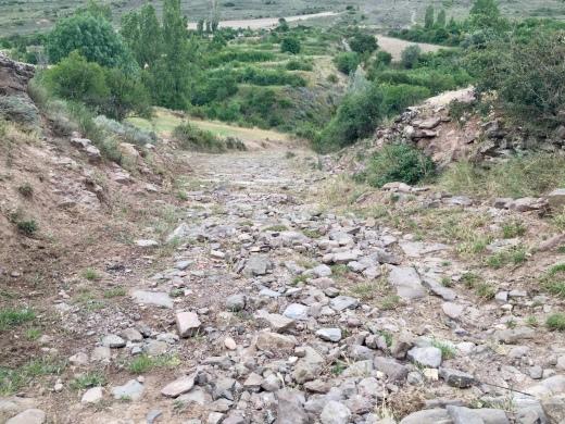 Calzada Romana a su paso por el corral de Arbea