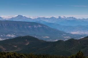 Vista de los Pirineos desde la Sierra