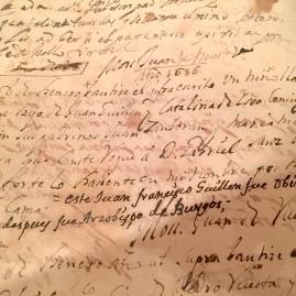 Asiento del bautizo de Juan Francisco Guillén en el libro de Bautizos de la iglesia parroquial de Undués de Lerda