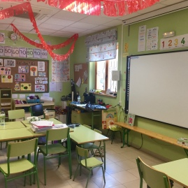 Aula del actual colegio de Undués de Lerda