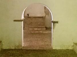 Parte trasera de la nave de la ermita de Santiago