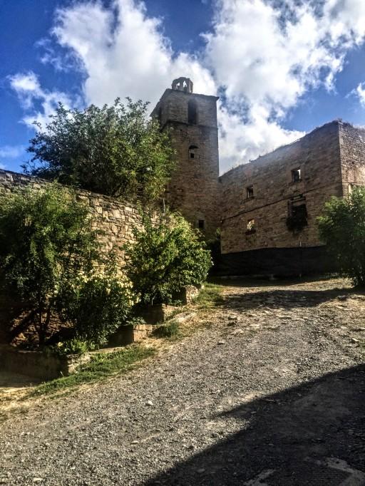Detalle de la iglesia de Ruesta